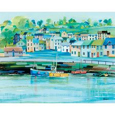 Harbour Colours by Jeremy Thompson Framed Art Print on Canvas