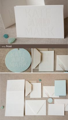 letterpress wedding invitations by Alee & Press: frost
