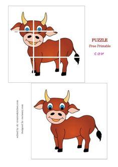 ANIMALS - #PRESCHOOLERS #PUZZLE FREE PRINTABLE