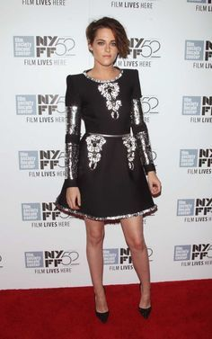 Kristen Stewart in Chanel haute couture at the 2014 New York Film Festival