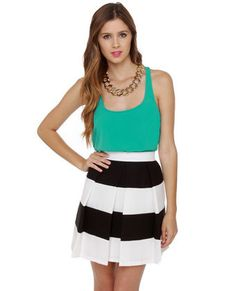 Lulu's striped skirt