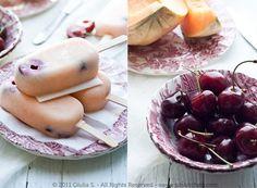 Denny Chef Blog: Ghiaccioli alla ciliegia e melone di Cantalupo