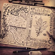 The Hedge Witch's Herbal Grimoire by Poison Apple Printshop Religion Wicca, Magick, Witchcraft, Grimoire Book, Creation Art, Hedge Witch, Drawn Art, Rough Draft, Witch Aesthetic