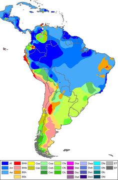 South-America Koppen Map - Köppen climate classification - Wikipedia, the free encyclopedia
