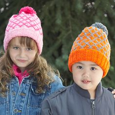 Patons Astra - Lattice Fair Isle Hat (free knitting pattern)
