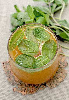 Pumpkin Mojito is made with rum and fresh mint. Great combinations with pumpkin.
