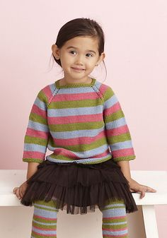 Ravelry: Jazzy Snazzy Pullover pattern by Lion Brand Yarn Knitting For Kids, Crochet For Kids, Knit Crochet, Knitting Ideas, Knitting Projects, Sweater Knitting Patterns, Knitting Yarn, Free Knitting, Knitted Baby Clothes