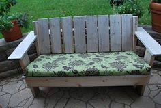 """Make Your Own """"Almost"""" No Sew Bench Cushions!  I have a project ahead of me at least 50 feet long!!!"""