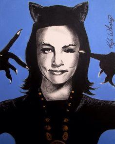 Julie Newmar/Catwoman 12x16
