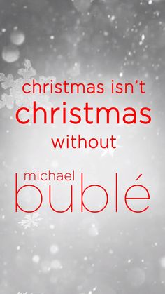 Christmas isn't Christmas without Michael Bublé. Listen to Michael Bublé's 'Christmas' album now. Christmas Albums, Christmas Music, Christmas Images, Bubble Christmas, Xmas, Michael Buble, Flower Wallpaper, Christian, Thoughts