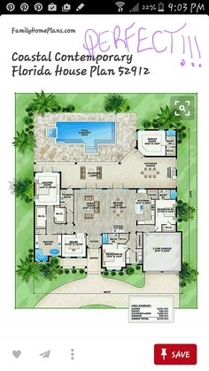 Future Home Ideas Florida House Plans Single Story House Floor Night City Florence Italy City Wallpaper Lockscreen House Layout Plans, Dream House Plans, House Layouts, Floor Plan Layout, Beach House Floor Plans, Home Design Floor Plans, Florida House Plans, Florida Home, Florida Living