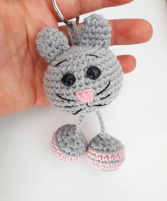 Good morningib if # ig ig i am urum t, This Pin was discovered by Oks Animals keychain key ring key fob animals pendant gift funny pendant funny keychain pendant bag accessories gift for her crochet keychain – Artofit Crochet Brooch, Crochet Fabric, Crochet Gifts, Cute Crochet, Crochet Dolls, Crochet Stitches, Amigurumi Patterns, Knitting Patterns, Crochet Patterns