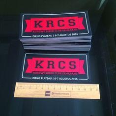 Stickers done! #screenprinted by © 2016 @bleedsyndicate  Terima kasih KRCS.  For more info/order, call/sms contact number on my bio.  #sticker #stickervynil #vinyl #decal #vinyldecal #screenprint #screenprinting #screenprinter #sablon #cetaksaring #semarang #semarangkota #photosemarang #semaranghits #seputarsemarang #infosemarang #bleedsyndicate #2016 #bleedsyndicate2016