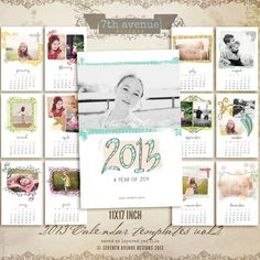 2014 Calendars Templates  11x17 inch vol.2 by 7thavenuedesigns, $45.00