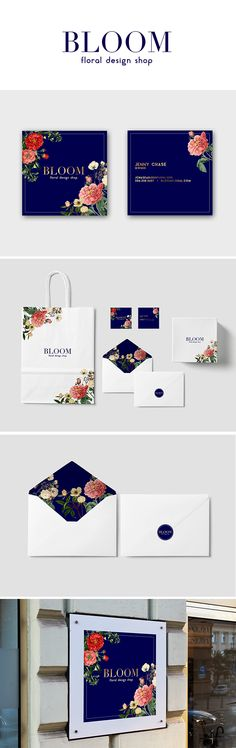 Bloom Floral Brand Stationary and Logo Design/Mockup