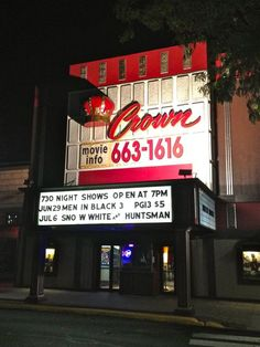 Downtown Crown Point, Indiana. Great theater, when I lived there it was a $2.00 admission.