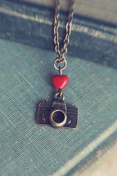 Small camera necklace