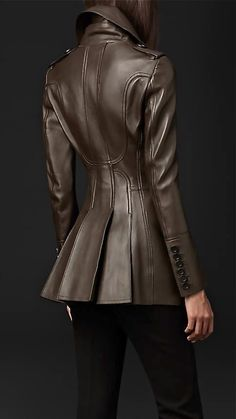 Men's Leather Jackets: How To Choose The One For You. A leather coat is a must for each guy's closet and is likewise an excellent method to express his individual design. Leather jackets never head out of styl Leather Jacket Outfits, Leather Jackets, Burberry Leather Jacket, Leather Coats, Peplum Jacket, Retro Mode, Fashion Outfits, Womens Fashion, Fashion Weeks