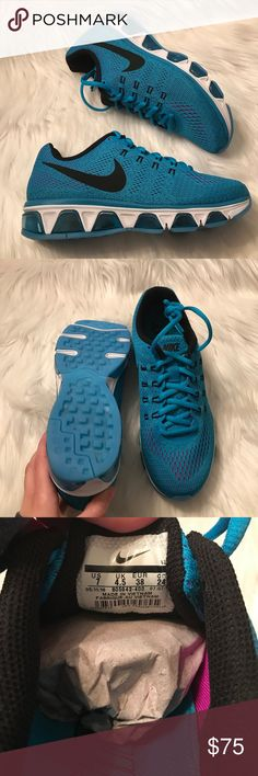 Nike Air Max Tailwind 8 Sneakers Woman's Nike air max tailwind 8 sneakers Style: 805942-400 Blue lagoon, black and purple New with original box Size 7 Nike Shoes Sneakers