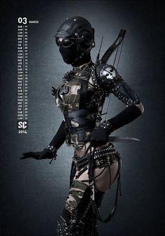 Steampunk Commando Marzo by photographer lasupercharger Tribal Fusion, Dark Black, Louisa Johnson, Wasteland Warrior, Post Apocalyptic Fashion, Cosplay Costume, Cybergoth, Shadowrun, Dieselpunk