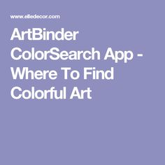 ArtBinder ColorSearch App - Where To Find Colorful Art