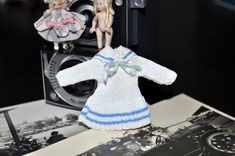 White Sailor Dress by Jenny Tomkins Sailor Dress, Children's Boutique, Miniature Dolls, Dollhouse Miniatures, Birthday Candles, Artisan, South Africa, Handmade, Collection