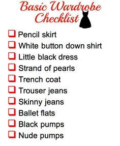 simple wardrobe blogs   Basic Wardrobe Checklist