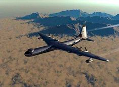 High over the desert a USAF Peacemaker heavy bomber. Military Jets, Military Aircraft, Air Fighter, Fighter Jets, Drones, Strategic Air Command, Airplane Fighter, Old Planes, Aircraft Parts