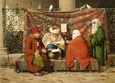 "Martinus Rørbye: ""A Turkish notary, as Terminates a prenuptial agreement"" 1837."