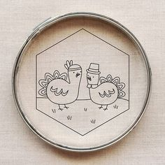 Thanksgiving Turkeys, free embroidery pattern | Wild Olive