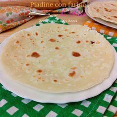 Piadine con farina di riso -senza glutine