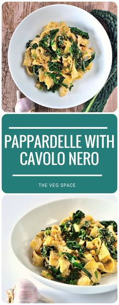 This Pappardelle with Cavolo Nero & Walnut Sauce is a filling and delicious supper with a traditional Italian sauce and autumn's finest Cavolo Nero.