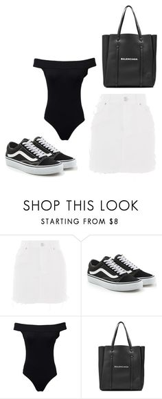 """casual"" by juliadb on Polyvore featuring Topshop, Vans and Balenciaga"