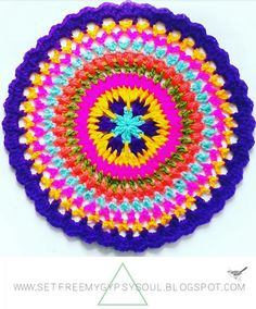 Autumn Fiesta Carnivale Crochet Mandala | Free Crochet Pattern - Make this colourful carnival floral design crochet mandala using a series of treble crochet, double crochet and puff and spike crochet stitches with this week's free crochet pattern for Mandala Monday.