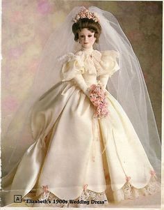 Click to view larger image  Zoom InZoom Out  Sell one like this     Bride Doll Elizabeth' 1900's Wedding Dress from Astion-Drake Gallerys Tumminio