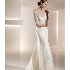 Hot Sexy Bride White Lace Wedding Dress Bridal Gown Long Sleeve Bridal Dress Wedding Gown A0095