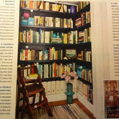 Library in a closet
