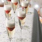 Champagne with strawberries and cake | SAorganics.com