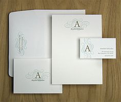 """""""A"""" letterpress cards from Oblation in Portland"""