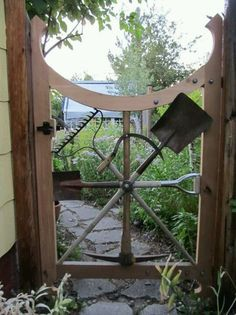 Recycled garden tool gate