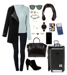 """""""ORL (flight to)"""" by ittgirl ❤ liked on Polyvore featuring STELLA McCARTNEY, Dondup, Minor Obsessions, Givenchy, Tumi, Herschel Supply Co., Polo Ralph Lauren, Pandora, Jennifer Meyer Jewelry and Alison Lou"""