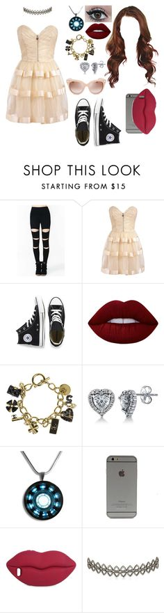 """""""Untitled #675"""" by skh-siera18 ❤ liked on Polyvore featuring glitzyangel, Converse, Lime Crime, Chanel, BERRICLE, STELLA McCARTNEY, Assya London and Valentino"""