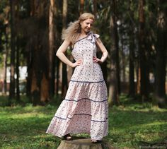 5d5c124f2366569 Платья ручной работы. Ярмарка Мастеров - ручная работа. Купить Льняное  платье. Платье летнее