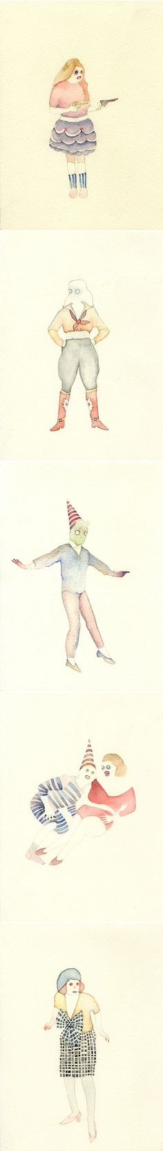 watercolors by tara marynowsky... beautiful/scary