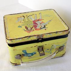 yellow vintage lunch box