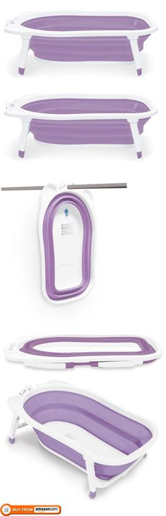 Planning on replacing the tub in our house with a walk-in shower. No tub for future baby means one of these will someday be needed. Brilliant. Karibu Baby Folding Bath, Purple/White, Karibu Folding Ba