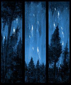"""""""we were fortunate"""" AP triptic 2007 from daniel danger Illustrator, Horror Art, Art Plastique, Dark Art, Art Forms, Art Inspo, Amazing Art, Fantasy Art, Dark Fantasy"""