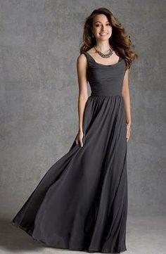 charcoal long bridesmaid dress - Google Search