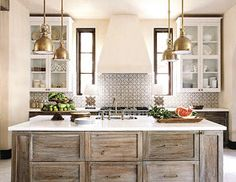 Peonies and Orange Blossoms: Cerused French Oak Kitchens and Cabinets - Kitchen Trend 2016