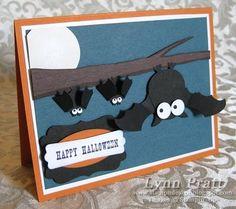 Stampin' Up!  Owl Punch  Lynn Pratt  Halloween Bat